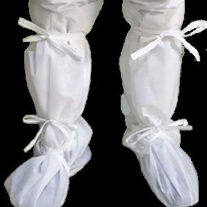 Botosi tip cizma din material laminat, cu elastic si legatori, 50 cm
